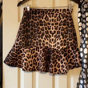 Nasty gal leopard skirt